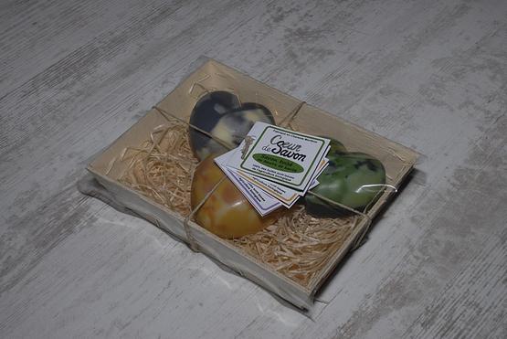 Coffret cadeau savon artisanal lavande