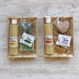 coffret cadeau saint-valentin coeur de savon