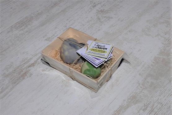 mini bourriche savons amande lavande bio