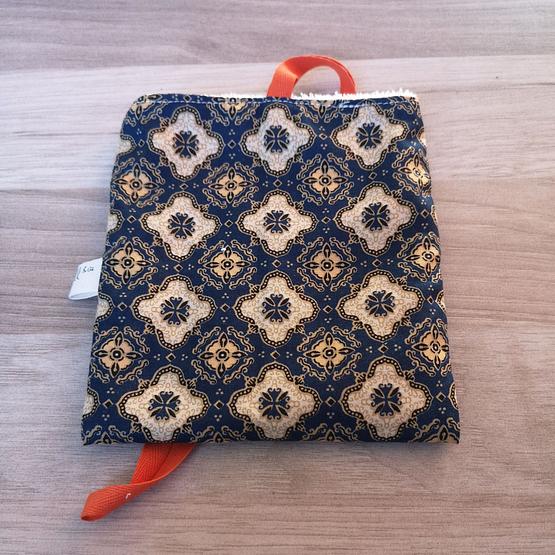pochon noir motif Zzeell & Cie tissu