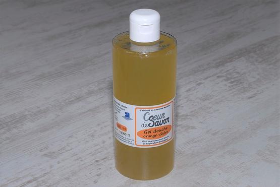 gel douche savon liquide orange cèdre 500 bio