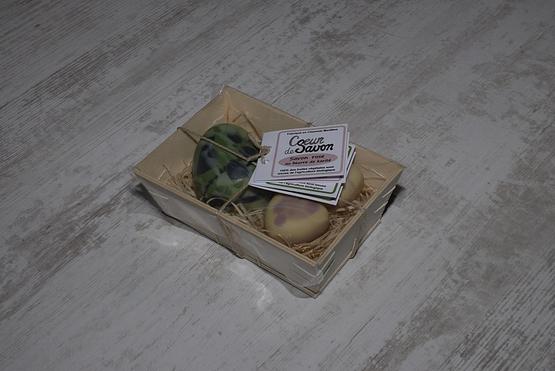 Coffret cadeau savon artisanal eucalyptus agrumes