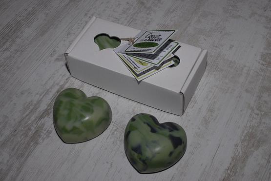 savon coeur bio artisanal amande eucalyptus