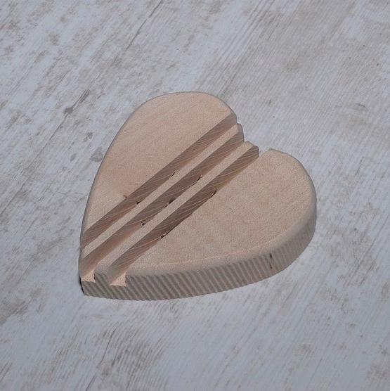 porte savon coeur bois artisanal