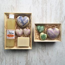 Coffret Cadeau Fête des mères coeur de savon