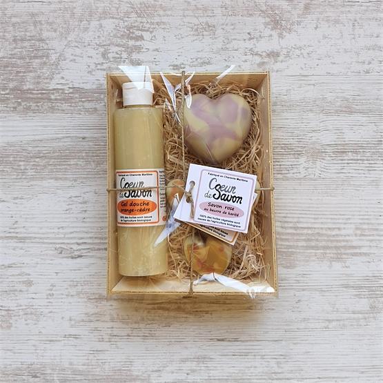 coffret cadeau saint-valentin coeur de savon pour elle