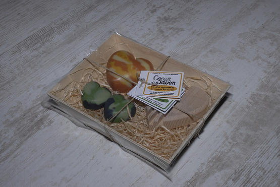 Coffret cadeau savon porte savons agrumes