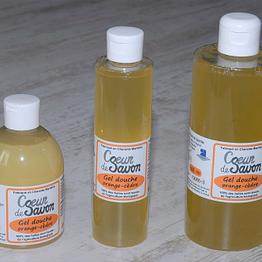 gel douche savon liquide orange cèdre